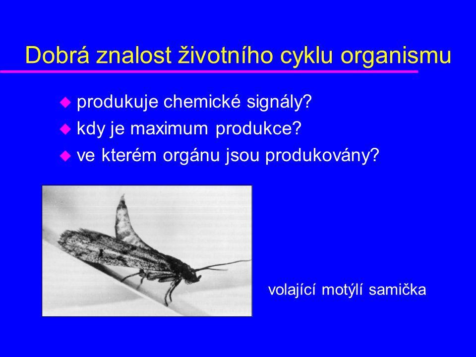 Dobrá znalost životního cyklu organismu u produkuje chemické signály.