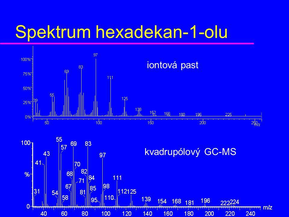 Spektrum hexadekan-1-olu kvadrupólový GC-MS iontová past