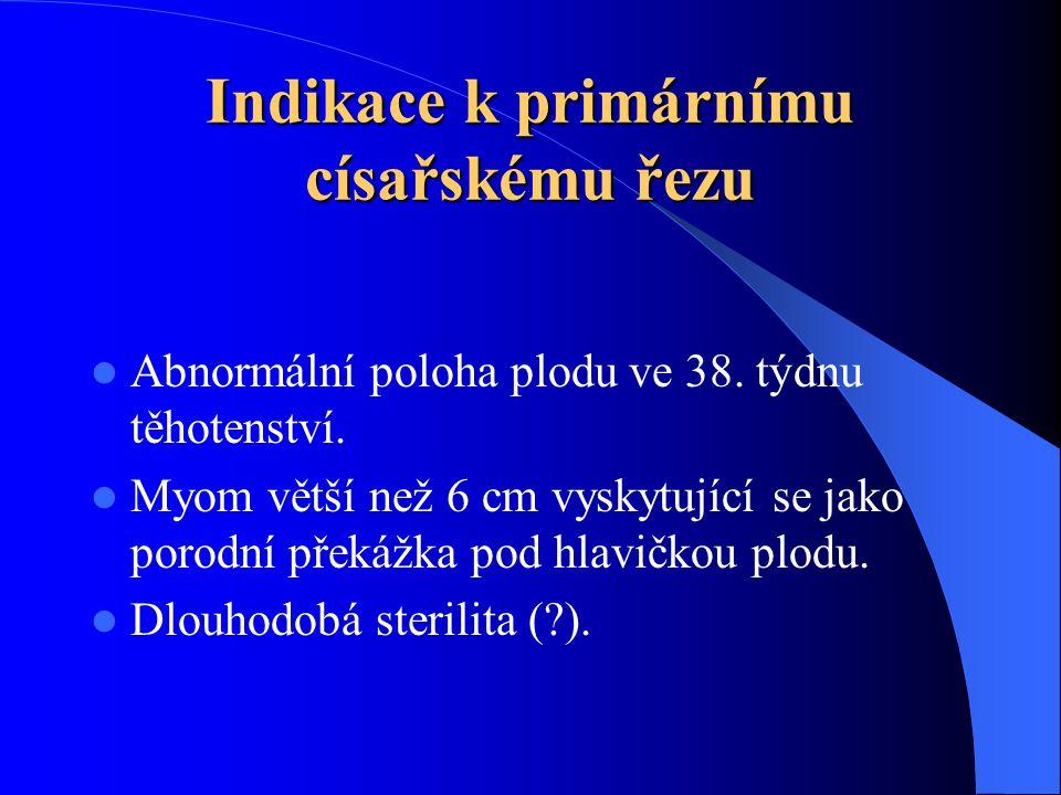 Indikace k primárnímu císařskému řezu  Abnormální poloha plodu ve 38.