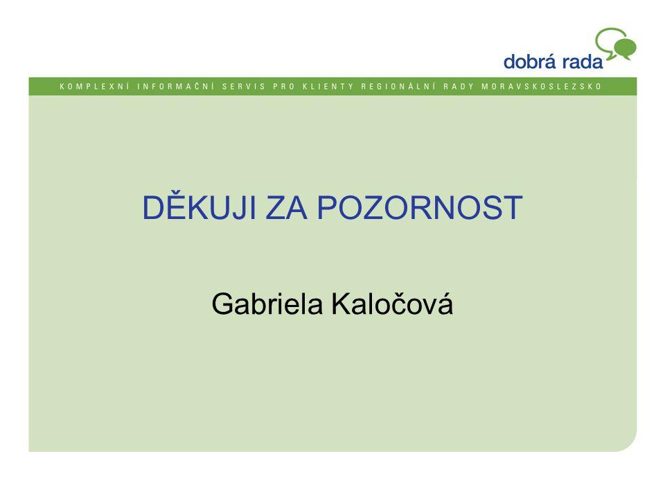DĚKUJI ZA POZORNOST Gabriela Kaločová