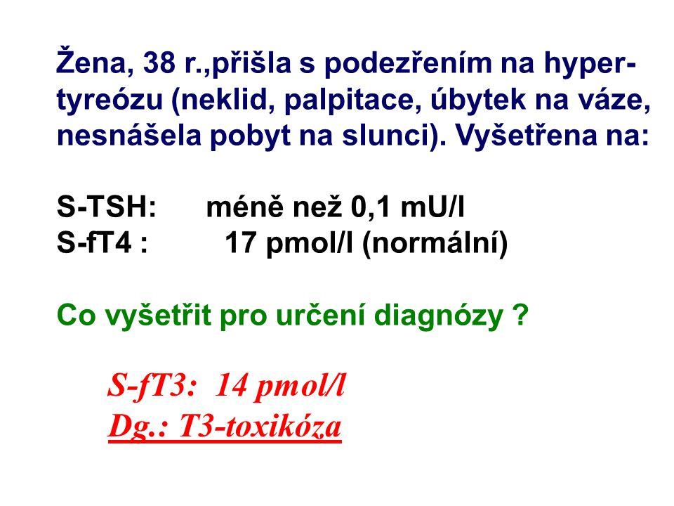 Žena, 51 r., pří vyšetření v lipidové poradně měla hypercholesterolemii 8,8 - 9,3 mmol/l.