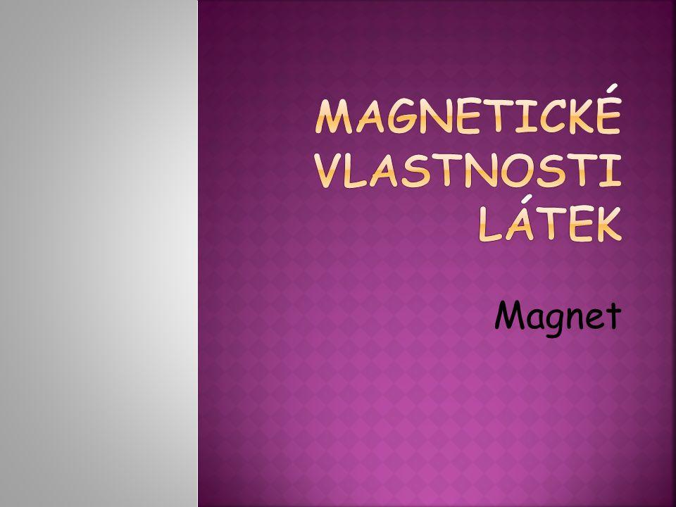 Tělesa jsou přitahována k magnetu Tělesa nejsou přitahována k magnetu RadiátorZlatý prstýnek MinceKousek dřeva Ocelové pilinyPlastová lžička ŠroubekHliníková naběračka NůžkyKousek křídy Skleněná kádinka Látka