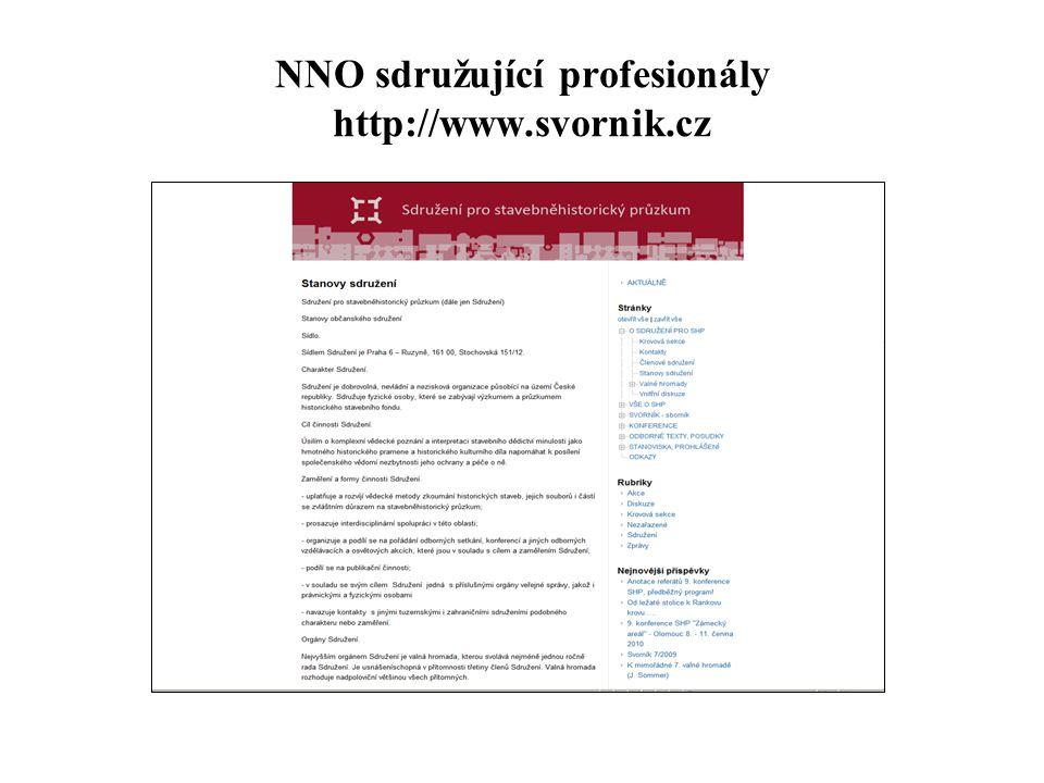 NNO sdružující profesionály http://www.svornik.cz