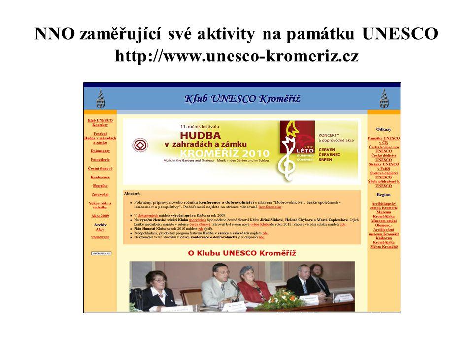 NNO zaměřující své aktivity na památku UNESCO http://www.unesco-kromeriz.cz