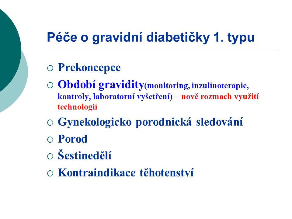 Péče o gravidní diabetičky 1.