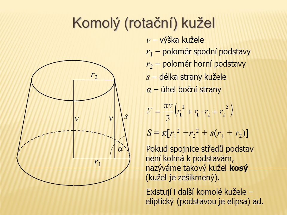 Koule S r S = 4πr 2 r – poloměr koule S – střed koule