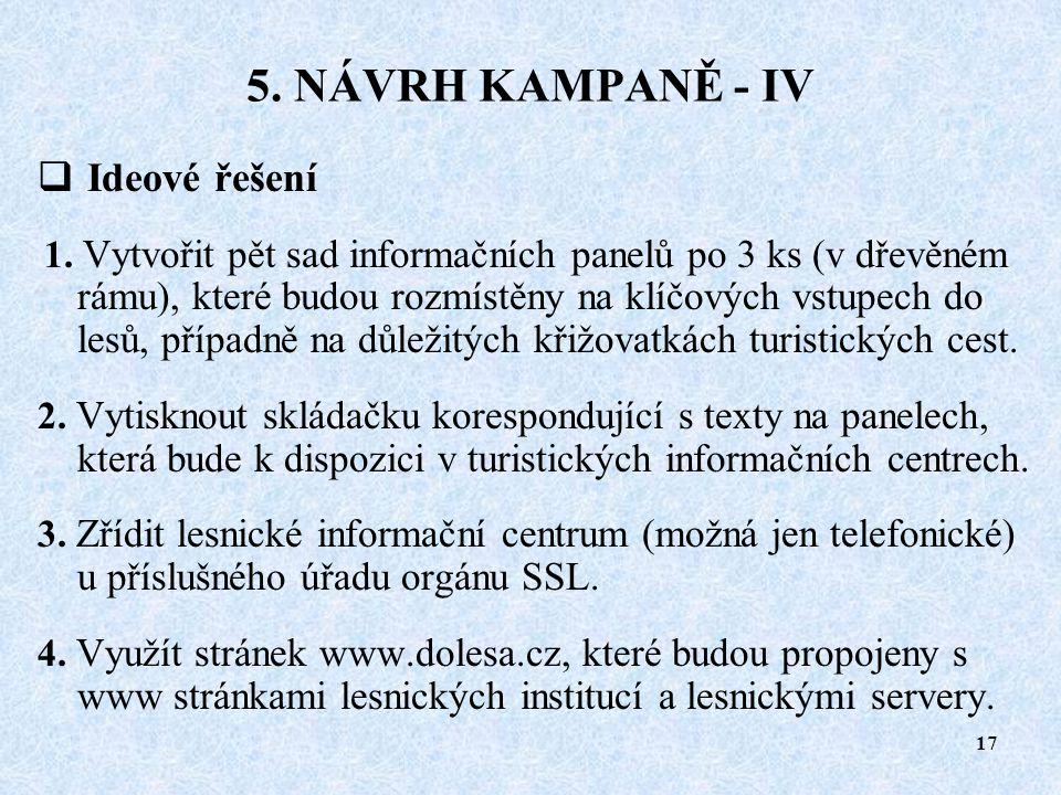 """16 5. NÁVRH KAMPANĚ - III  Cílová skupina  Místní komunita mající silnou vazbu na """"své lesy."""