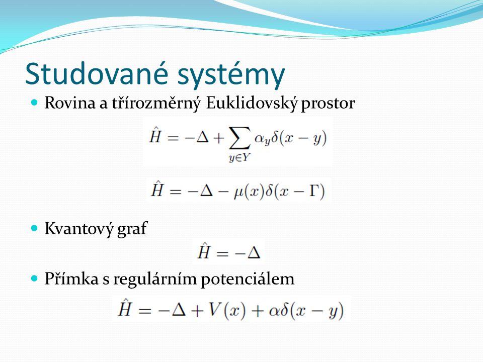 Teoretický úvod  Zavedení matematicky korektních operátorů  Významné vlastnosti operátorů  Řešení spektrálního problému pomocí resolventy operátoru  Kreinova formule  Birman Schwingerova formule