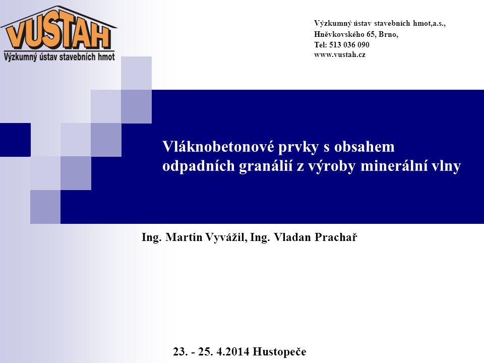 Úvod Příspěvek pojednává o vývoji tenkostěnného sklovláknobetonového prvku s definovaným obsahem odpadního materiálu z výroby minerální vlny (tzv.