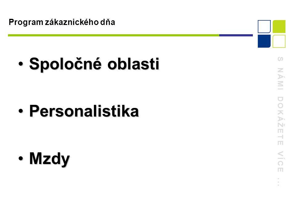 S NÁMI DOKÁŽETE VÍCE... Personalistika Personalistika