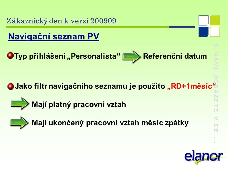 S NÁMI DOKÁŽETE VÍCE... Zákaznický den k verzi 200909 V E R Z E 200909 PERSONALISTIKA