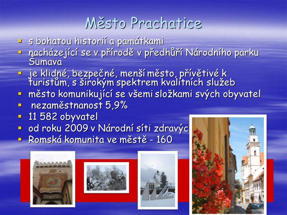 Město Prachatice  s bohatou historií a památkami  nacházející se v přírodě v předhůří Národního parku Šumava  je klidné, bezpečné, menší město, pří