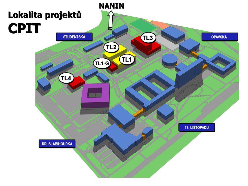 Lokalita projektů CPIT Lokalita projektů CPIT NANIN