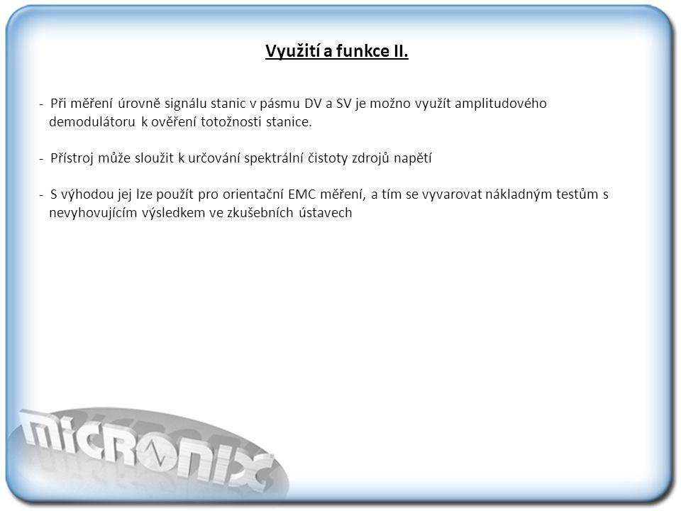 Využití a funkce II.