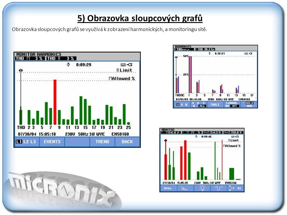 Monitorování kvality sítě Obrazovka Monitoru kvality ukazuje všechny, z tohoto pohledu důležité, parametry.