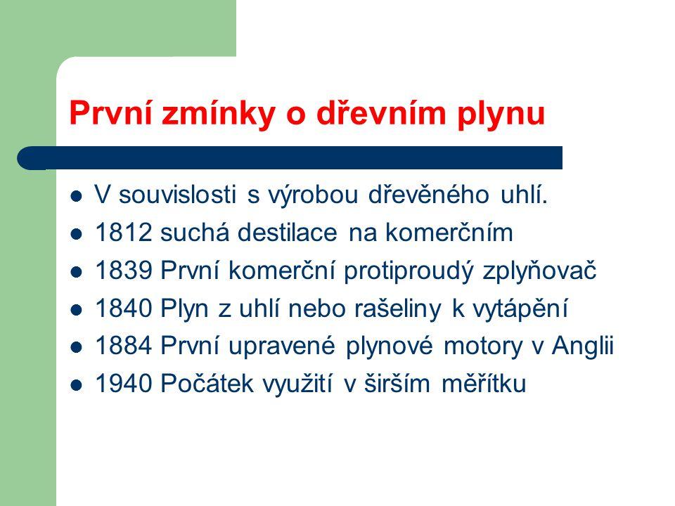 Historický přehled systémů pro energetické zplyňování Mgr. Radovan Šejvl