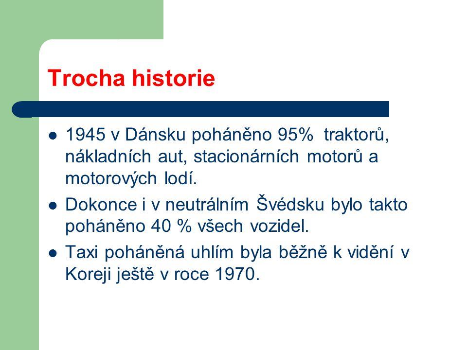 Trocha historie: Znovu objevený dřevoplyn v roce 1985 Provedení pro Větnam – palivo BAMBUS