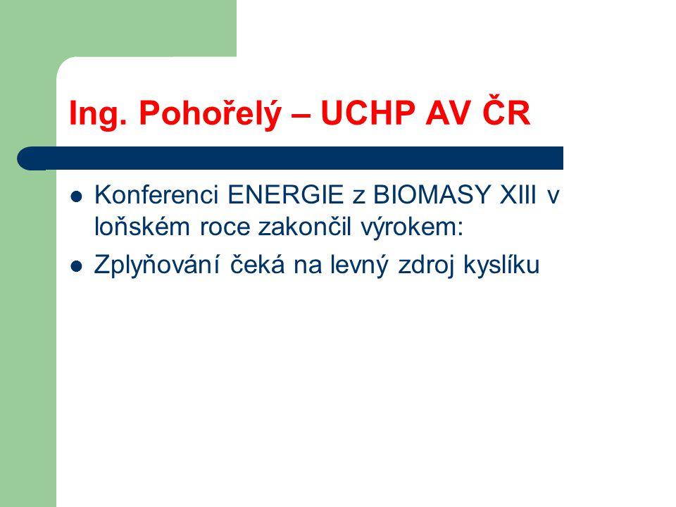 VŠB - Technická univerzita Ostrava, Výzkumné energetické centrum Průměrné složení plynu