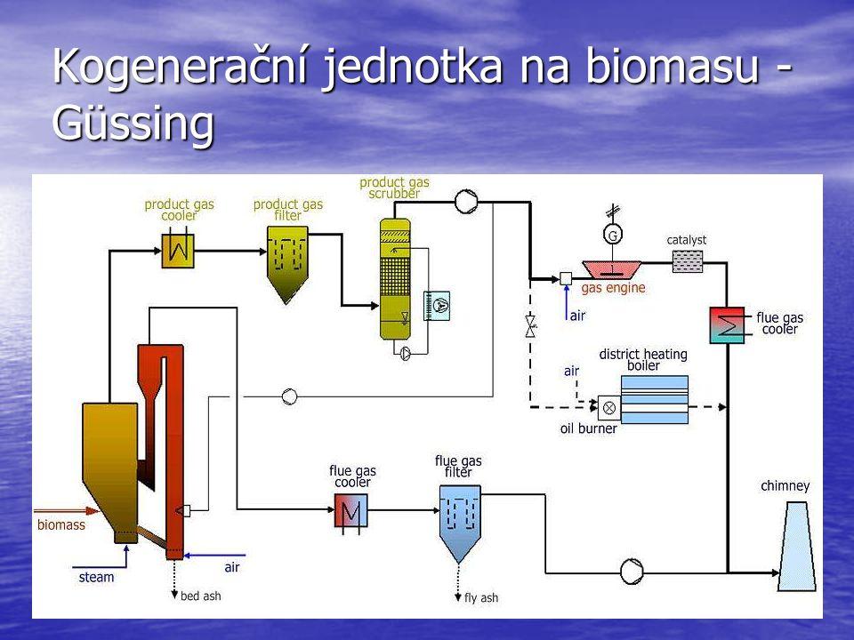 Dřevný plyn Spaliny Biomasa Vodní pára Vzduch