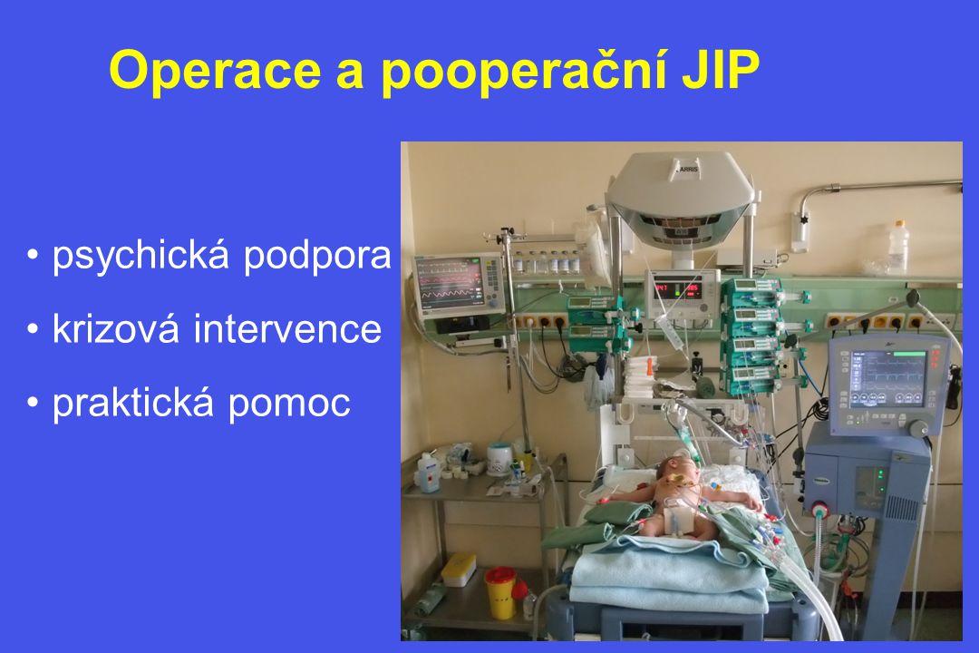 Operace a pooperační JIP • psychická podpora • krizová intervence • praktická pomoc