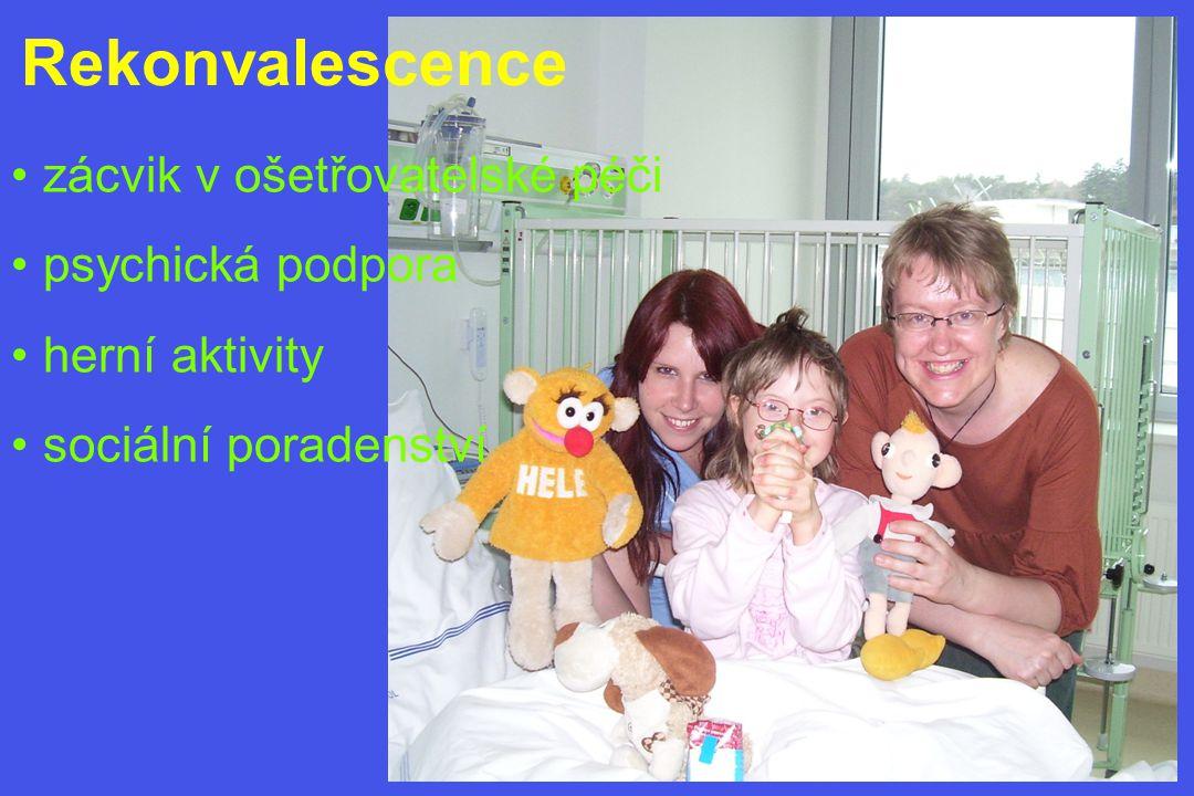 Rekonvalescence • zácvik v ošetřovatelské péči • psychická podpora • herní aktivity • sociální poradenství