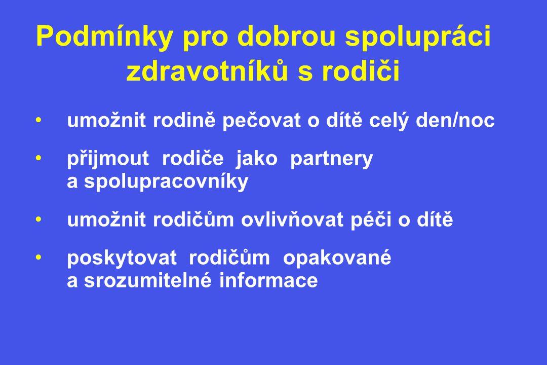 Doporučení České pediatrické společnosti 40-50% lůžek pro maminky na každém dětském oddělení