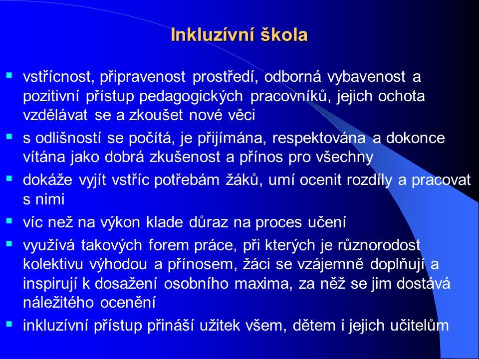 Podpora inkluzívního vzdělávání Školská poradenská zařízení – SPC a PPP  jejich činnost upravuje vyhláška č.