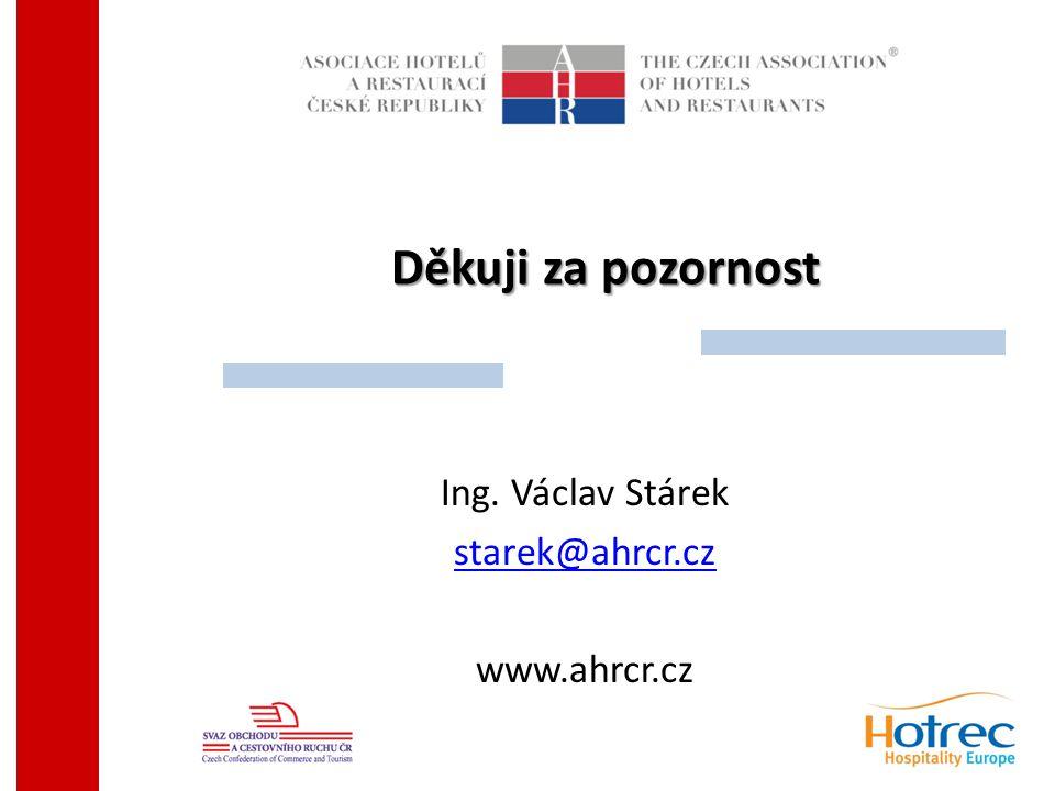 Děkuji za pozornost Ing. Václav Stárek starek@ahrcr.cz www.ahrcr.cz
