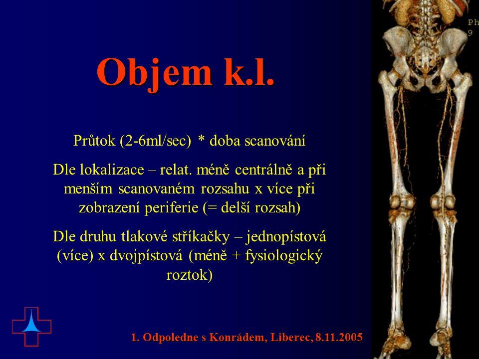 CTA renálních tepen (aorty) 1. Odpoledne s Konrádem, Liberec, 8.11.2005