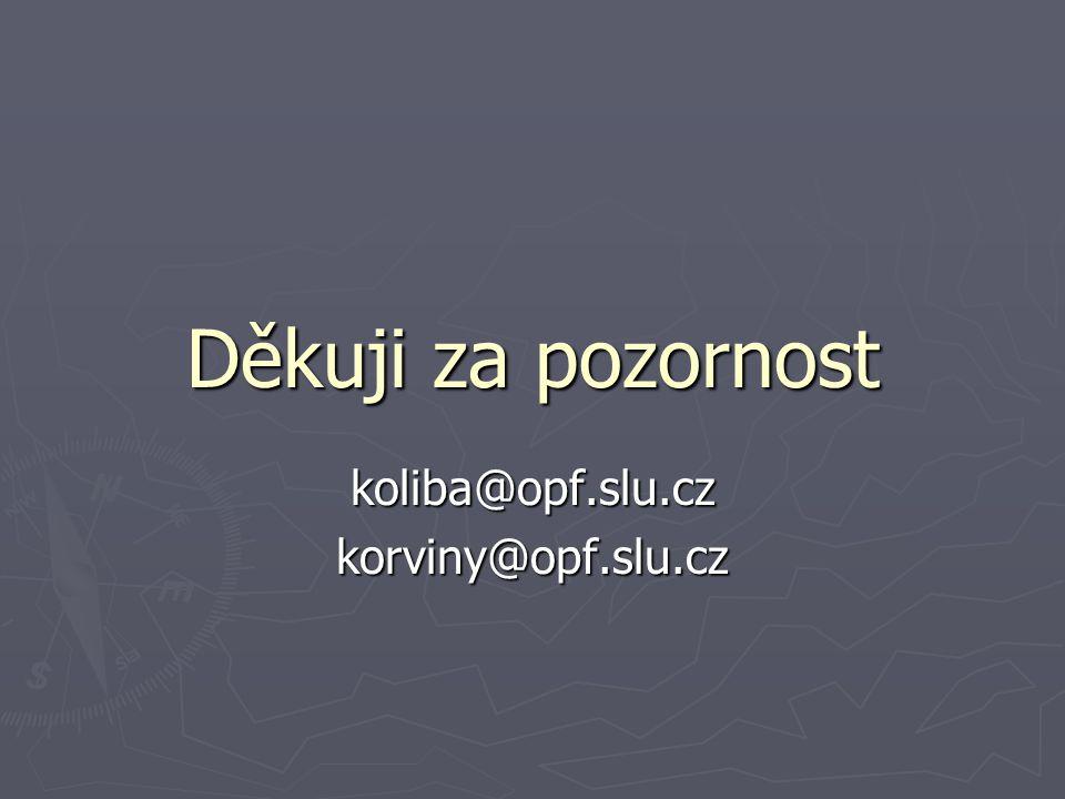 Děkuji za pozornost koliba@opf.slu.czkorviny@opf.slu.cz