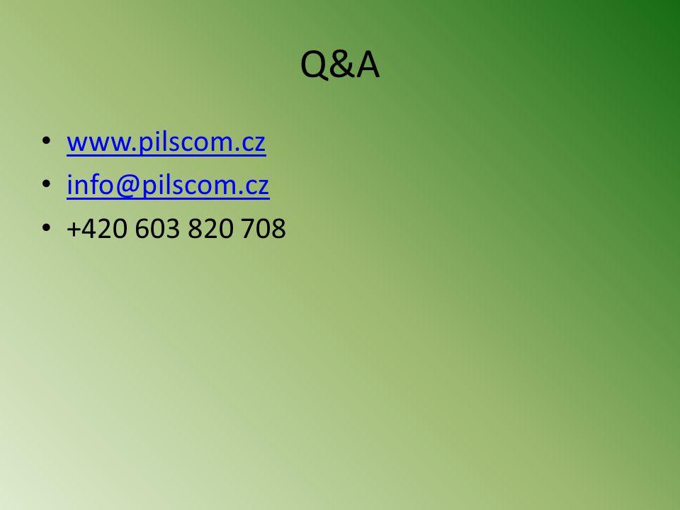 Q&A • www.pilscom.cz www.pilscom.cz • info@pilscom.cz info@pilscom.cz • +420 603 820 708