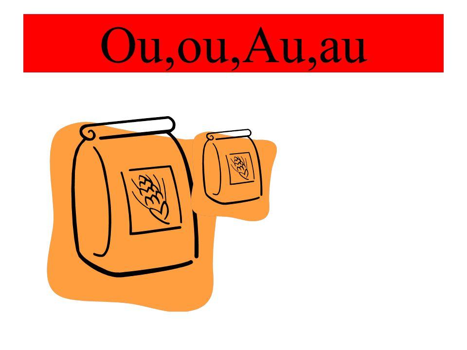 Slova s dvojhláskami Ou,ou,Au,au