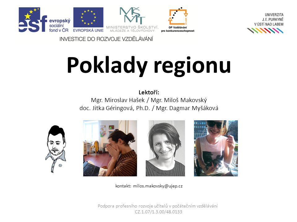 Časová dotace projektu: 4 x celodenní regionální výjezd 1 x celodenní výjezd do Prahy 6hodinový blok závěrečné reflexe Podpora profesního rozvoje učitelů v počátečním vzdělávání CZ.1.07/1.3.00/48.0133