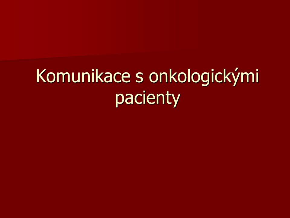 Komunikace s onkologickými pacienty