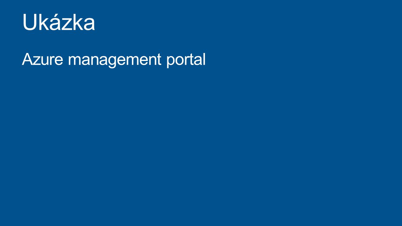 Azure management portal