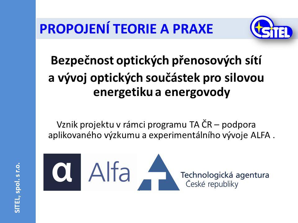 Bezpečnost optických přenosových sítí a vývoj optických součástek pro silovou energetiku a energovody Vznik projektu v rámci programu TA ČR – podpora