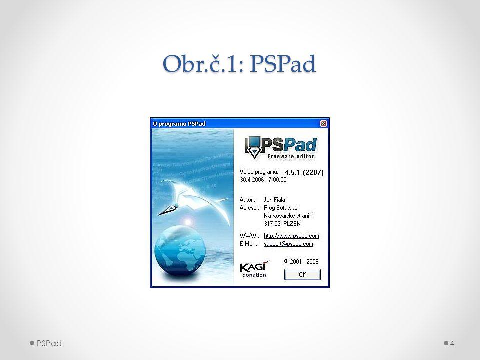 Obr.č.1: PSPad PSPad4