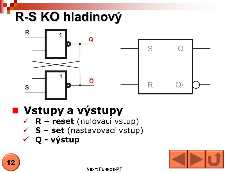 Stav SRQ t+1 funkce 1 00QtQt HOLD 2 010 RESET 3 101 SET 4 11.