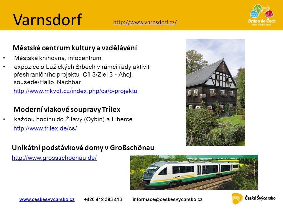 Varnsdorf Městské centrum kultury a vzdělávání • Městská knihovna, infocentrum • expozice o Lužických Srbech v rámci řady aktivit přeshraničního proje