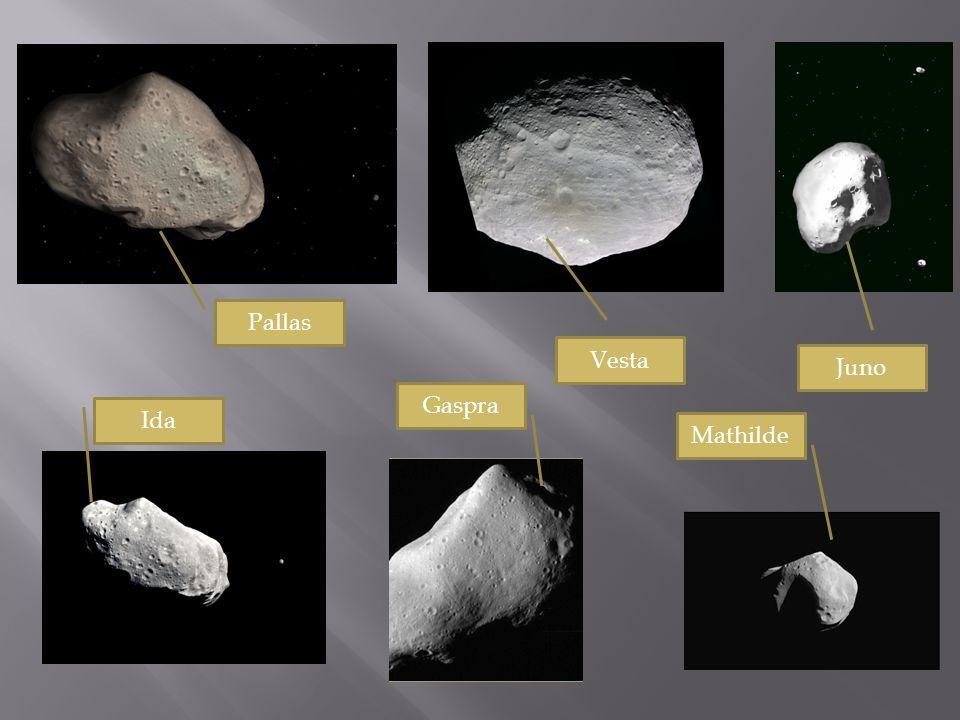 Vesta Pallas Juno Ida Gaspra Mathilde