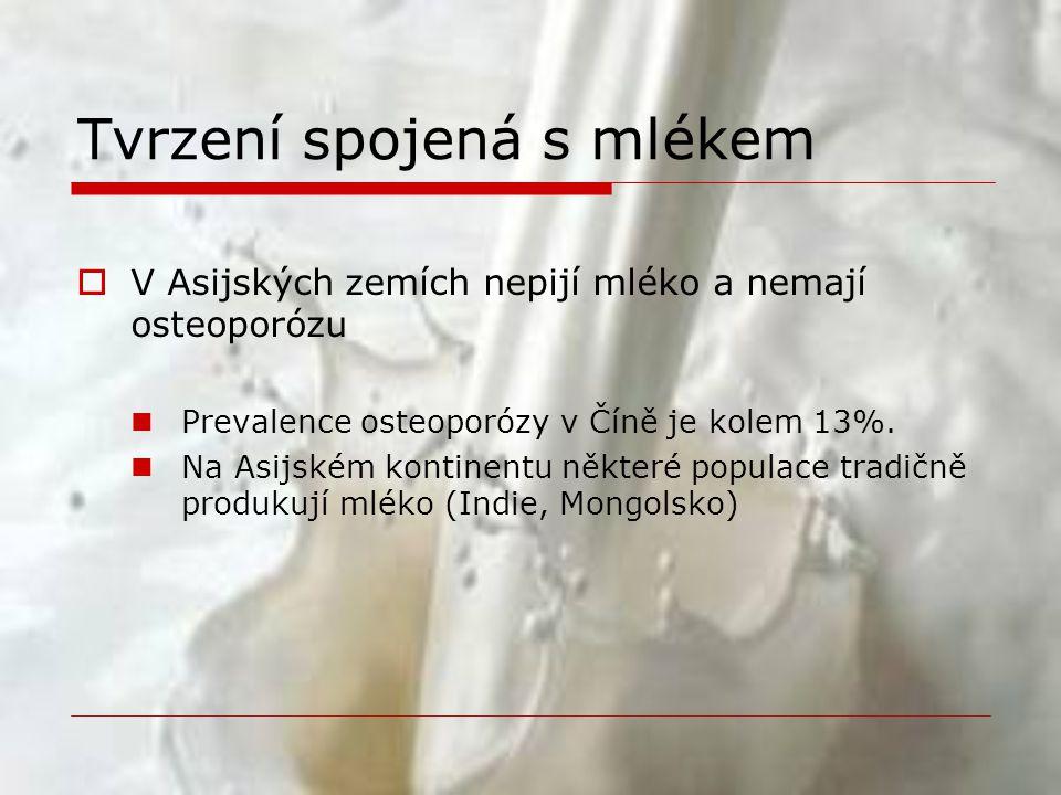 Problémy s konzumací mléka  Alergie na bílkovinu kravského mléka  Laktózová intolerance