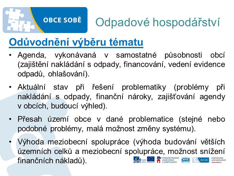 Odpadové hospodářství Základní legislativní rámec pro ČR •Zákon č.