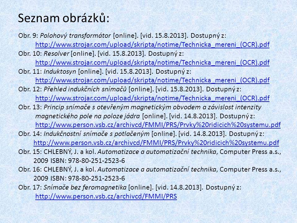 Seznam obrázků: Obr. 9: Polohový transformátor [online]. [vid. 15.8.2013]. Dostupný z: http://www.strojar.com/upload/skripta/notime/Technicka_mereni_(
