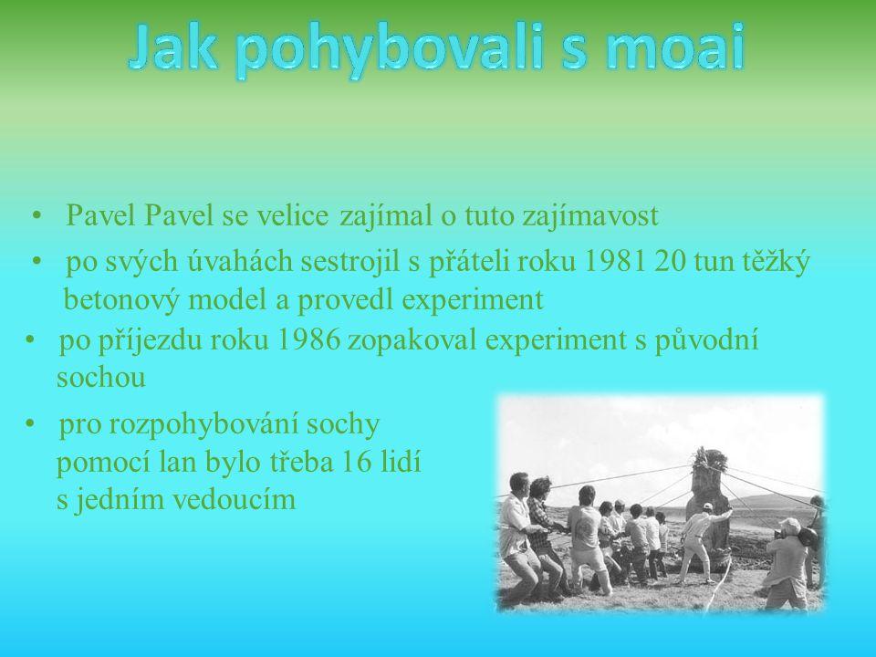 • Pavel Pavel se velice zajímal o tuto zajímavost • po svých úvahách sestrojil s přáteli roku 1981 20 tun těžký betonový model a provedl experiment •