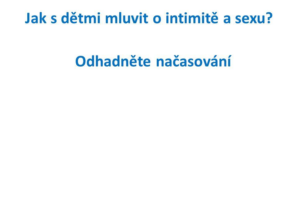 Jak s dětmi mluvit o intimitě a sexu? Odhadněte načasování