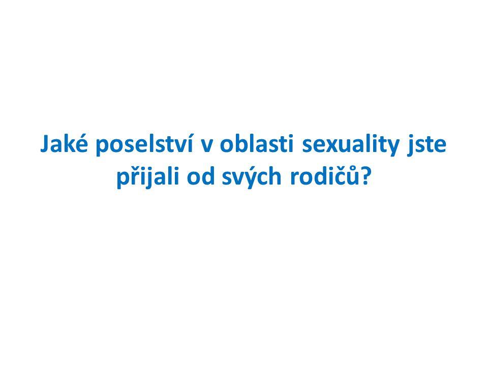 Jaké poselství v oblasti sexuality jste přijali od svých rodičů?