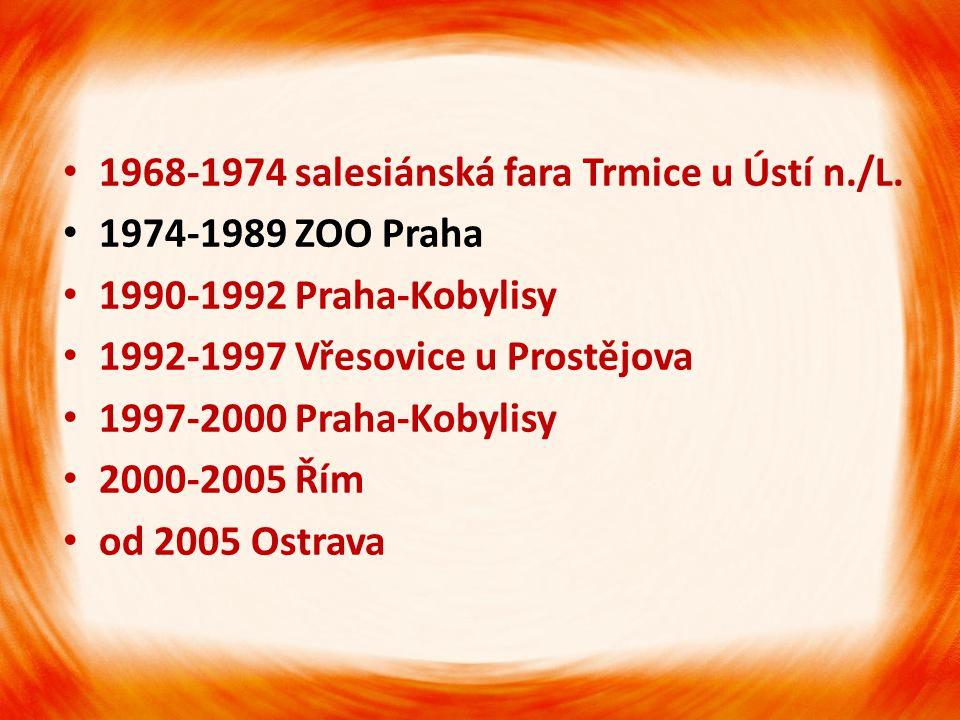 •1•1968-1974 salesiánská fara Trmice u Ústí n./L.