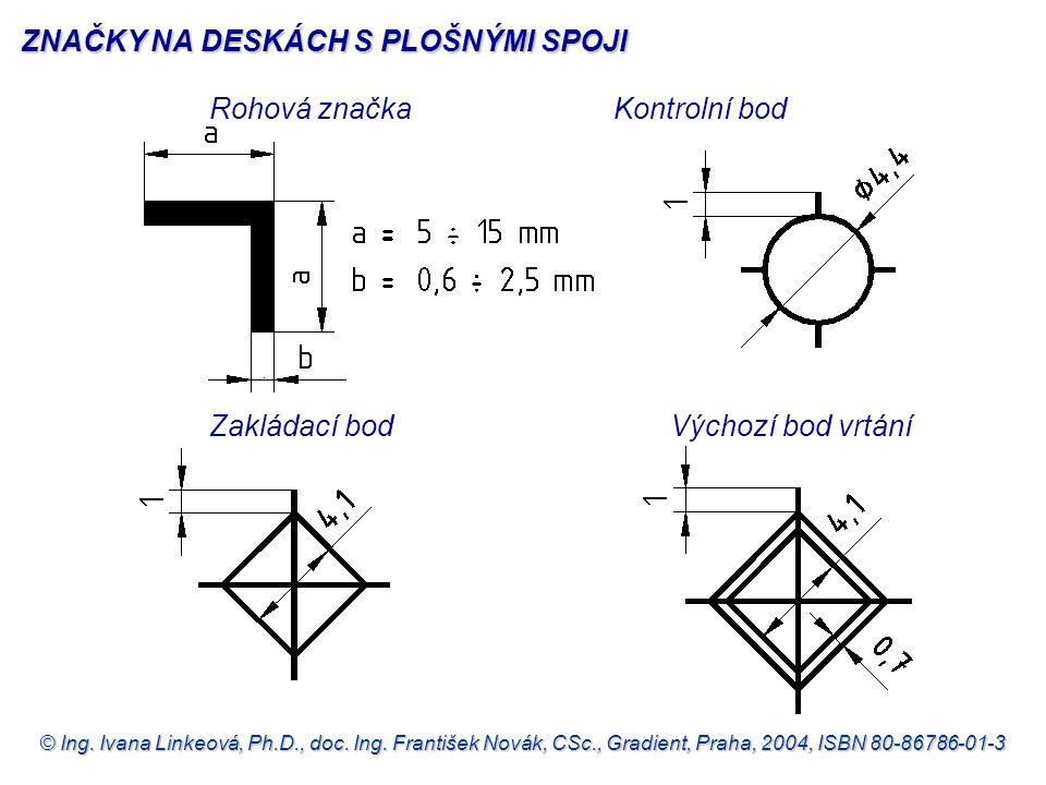 © Ing. Ivana Linkeová, Ph.D., doc. Ing. František Novák, CSc., Gradient, Praha, 2004, ISBN 80-86786-01-3 Rohová značkaKontrolní bod Zakládací bodVýcho