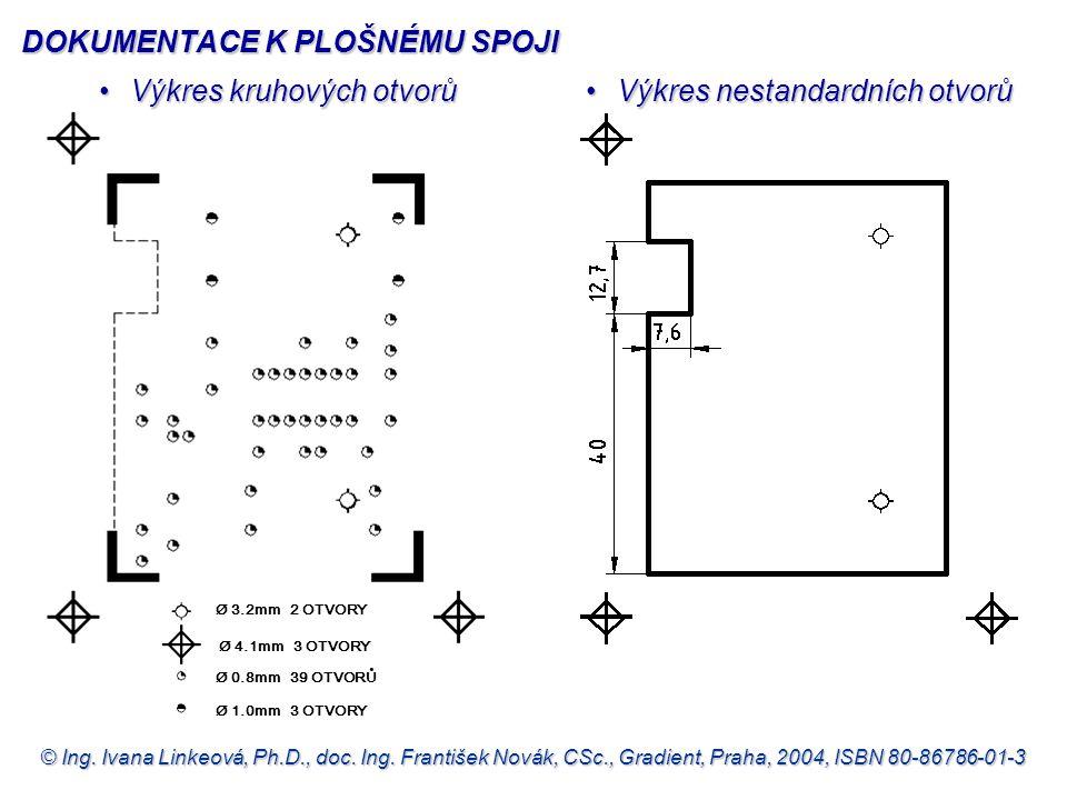 © Ing. Ivana Linkeová, Ph.D., doc. Ing. František Novák, CSc., Gradient, Praha, 2004, ISBN 80-86786-01-3 •Výkres kruhových otvorů •Výkres nestandardní
