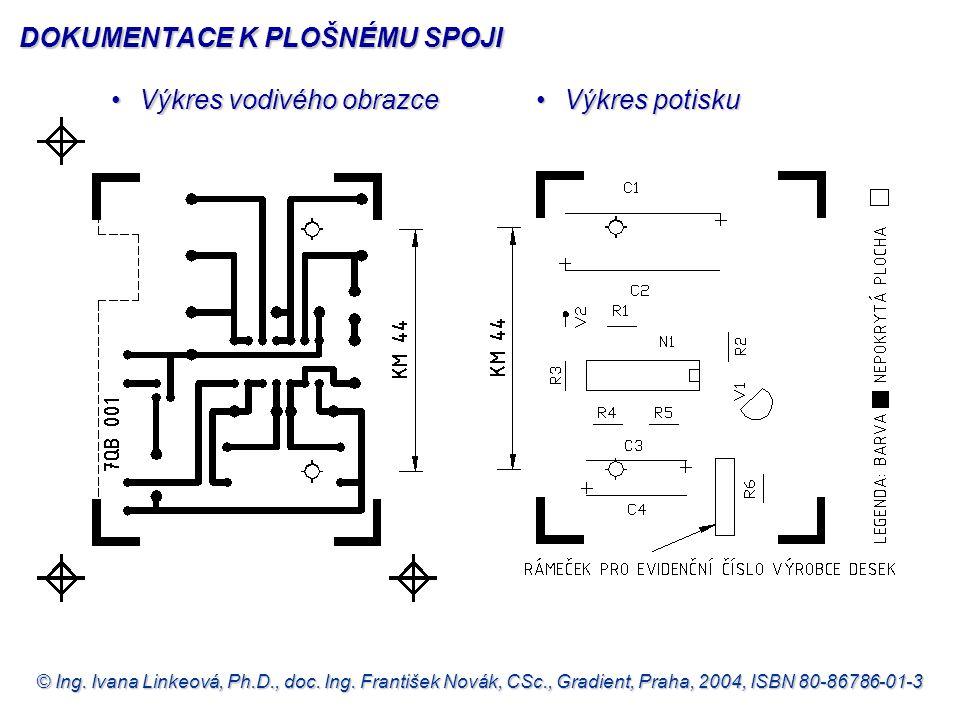 © Ing. Ivana Linkeová, Ph.D., doc. Ing. František Novák, CSc., Gradient, Praha, 2004, ISBN 80-86786-01-3 •Výkres vodivého obrazce •Výkres potisku DOKU